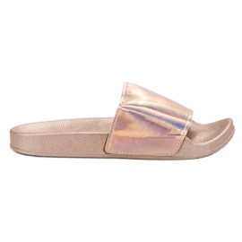 Small Swan roze Modieuze Rose Gold-slippers