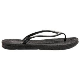 Seastar zwart Flip-flops Met Zircons