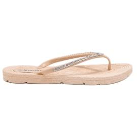 Seastar bruin Flip-flops Met Zircons