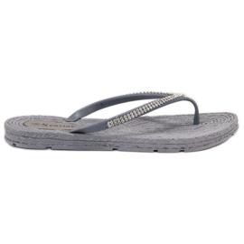 Seastar grijs Flip-flops Met Zircons