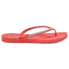 Seastar Flip-flops Met Zircons rood
