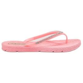 Seastar roze Flip-flops Met Zircons
