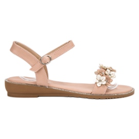 Forever Folie roze Sandalen met bloemen