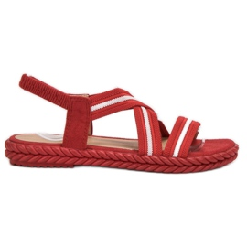 Seastar Comfortabele damessandalen rood