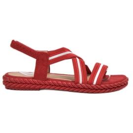 Seastar rood Comfortabele damessandalen