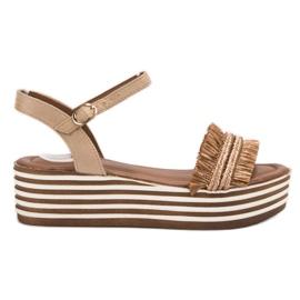 Bruin Donker beige VICES sandalen