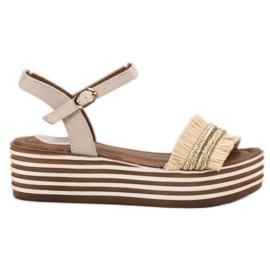 Bruin Licht beige VICES sandalen