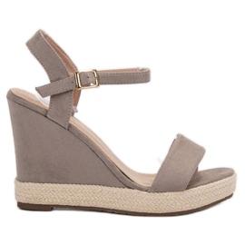 Seastar grijs Grijze Espadrilles sandalen