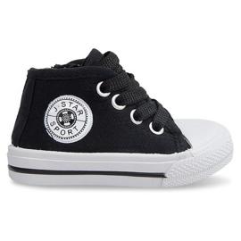 Hoge kinder sneakers Y1309 Zwart