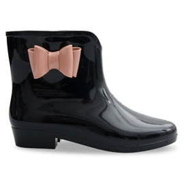 Zwart Galoshes Bows With Bow NEW2 Black