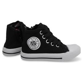 Hoge kinder sneakers Y1312 zwart