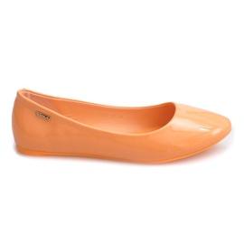 Gelakte ballerina's 11037 oranje