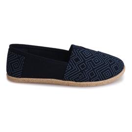Sneakers Espadrilles Linnen B211-3 Blauw