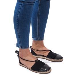 Sandalen Espadrilles Balletschoenen Balerinki 6333 Zwart