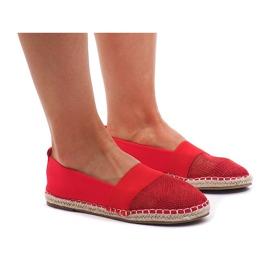 Sneakers Espadrilles, opengewerkte 188-38 rood