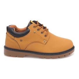 Bruin Klassieke schoenen enkellaarsjes JX-20 Camel