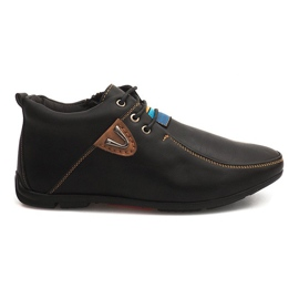 High Warming schoenen geknoopt WF622-3 zwart