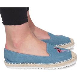 Blauwe espadrilles Flaming Jeans