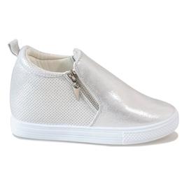 Grijs Zilveren opengewerkte sneakers DD383-2