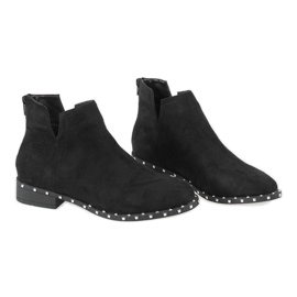 Zwarte suède laarzen met studs 3283-1