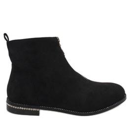 Zwarte suède laarzen met LL6300 rits