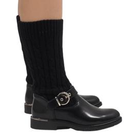 Ideal Shoes Zwarte warme laarzen E-4939