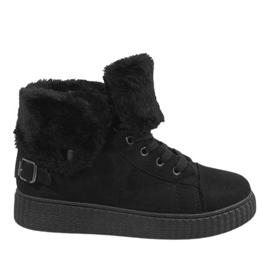 Zwarte enkellaarsjes B192-1
