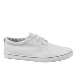 Witte klassieke heren sneakers BK-6005