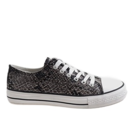 Zwarte heren sneakers BKA-9