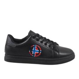 Zwarte heren sneakers D20533