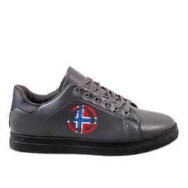 Grijs Grijze heren sneakers D20533