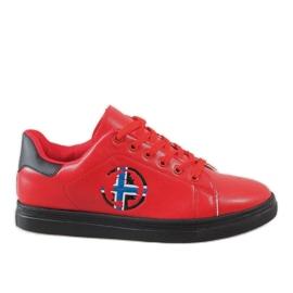 Rood Rode heren sneakers D20533