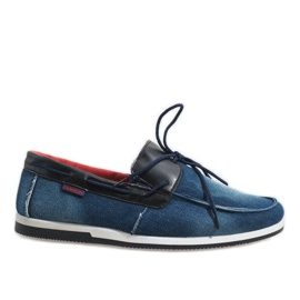 Marine Donkerblauwe elegante loafers schoenen AB108-1