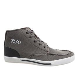 Bruine elegante hoge schoenen F10455