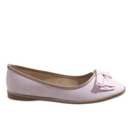 Roze balletschoenen met strik SK40