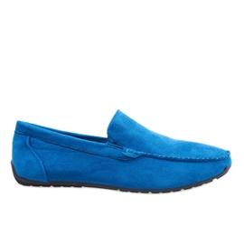 Donkerblauwe elegante loafers schoenen AB07-6