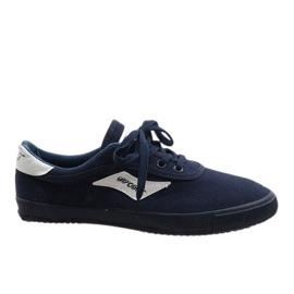 Marineblauwe herensneakers HW01