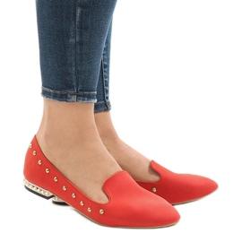 Rood Rode instappers voor ZHC-980 ballerina's
