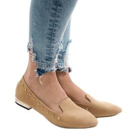Bruin Camel loafers voor ZHC-980 ballerina's