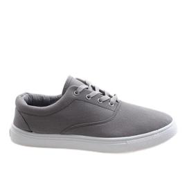 Grijs Grijze heren sneakers QF-10