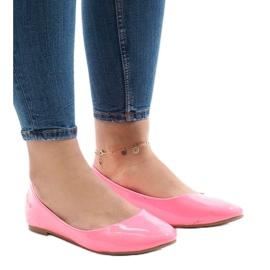 Roze klassieke balletschoenen L809