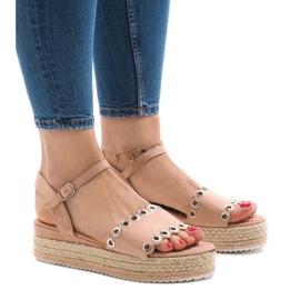Roze sandalen op platform 99-46