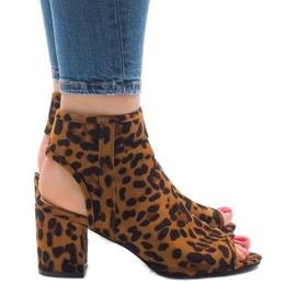 Luipaard sandalen met bovenkant C-7226