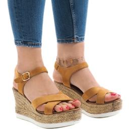 Bruin Kameel sleehak sandalen XL104