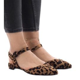 Sandalen met luipaardprint, ballerina's 77-100