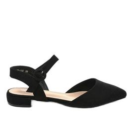 Zwarte ballerina sandalen 77-100