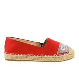 Rood Rode sneakers espadrilles op platform 180-6