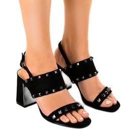 Zwarte suede sandalen 6912-GL