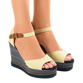 Bruin Beige sandalen op espadrilles 9079