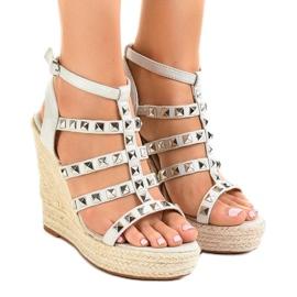 Grijs Grijze sandalen op strowig 9529